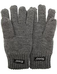 (フロソ) FLOSO キッズ?ジュニア?子供用 サーマル ニット手袋 ニットグローブ 男女共用
