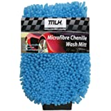 MLH Microfibre Chenille Wash Mitt, Blue (64MLH303)