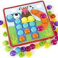 ウンチョン ジグソーパズル ペグボード キノコ ペグ遊び 子供