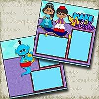 Make a Wish–Aladdin–Premadeスクラップブックページ–EZレイアウト2813