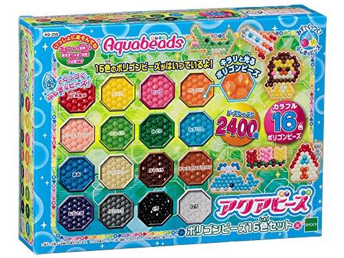 Aquabead polygon bead set 16 colors