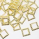 スタッズ メタルパーツ【パールストーン通販MK】四角 スクエア ブリオン 約50粒(5mm)厳選...