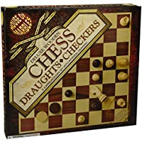 House of Marbles Deluxe Wooden Chess & Draughts Set by House of Marbles