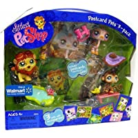 Littlest Pet Shop Exclusive Postcard Pets 3-Pack in Carry Case (Includes Monkey, Lion and Ostrich) [並行輸入品]