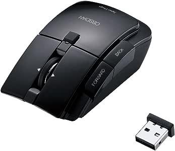 """【2010年モデル】ELECOM 5ボタンワイヤレスレーザーマウス """"OBSIDIAN(オブシディアン)"""" チルト機能搭載 ブラック M-GE3DLBK [PC]"""