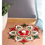 Itiha White Red Green 13 Pieces Rangoli Indian Decor for Wall Decoration, Floor Decoration & Table Decoration for Diwali & Ch