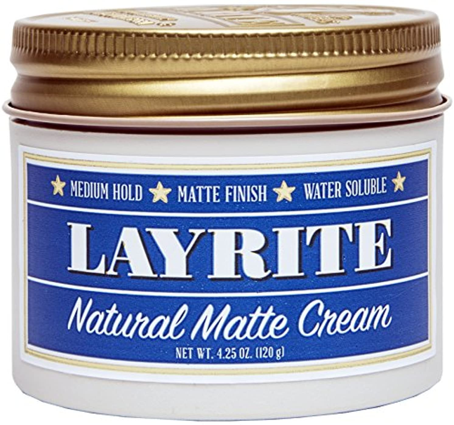 反映するフィルタ基礎Layrite Natural Matte Cream (Medium Hold, Matte Finish, Water Soluble) 120g/4.25oz並行輸入品