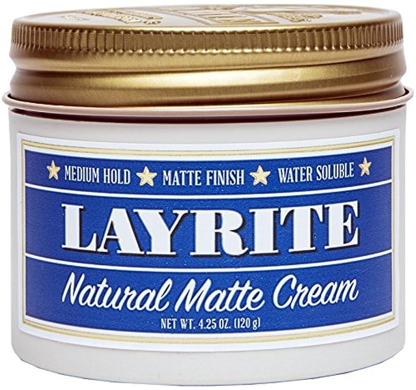 ガレージ治療魅力Layrite Natural Matte Cream (Medium Hold, Matte Finish, Water Soluble) 120g/4.25oz並行輸入品