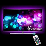 Led Strip lights,Vansky Bias Lighting for 40-60 inch HDTV 6.6ft RGB USB Powered LED Light Strip with RF Remote,TV Backlight K