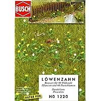 Busch 1 : 87 HO Dandelionパッチ60ホワイト& 60イエローDioramaセット# 1220