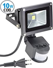 LED投光器 センサーライト 人感 10W 6000K 昼白色 玄関 照明 省エネ 長寿命 防水 防犯 防災用 作業灯 (10W)