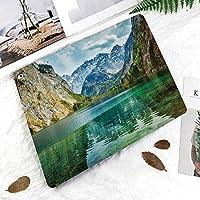 IPad 2/3/4 ケース 超薄型 超軽量 TPU ソフトスマートカバー オートスリープ機能 衝撃吸収 2つ折りスタンドApple iPad 4世代、新iPad 3(3rd Gen)&iPad 2ドイツアルプスの谷の穏やかなオーバーゼー山湖自然画像