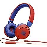 JBL JR310 子供向け ヘッドホン 音量制御機能搭載/カスタマイズシール付属/リモコンマイク付き レッド/ブルー 2021年モデル JBLJR310RED 【国内正規品/メーカー 付き】