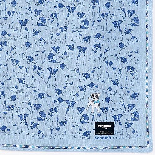 レノマ(雑貨)(renoma) 【48×48cm】プリントハンカチ(メンズ)【ブルー/**】
