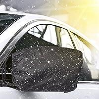 車ミラーカバー、Wanty 2パックナイロン自動サイドミラー雪カバーセット氷/雪/ Frostガードプロテクター/雪と氷ミラーカバー、フィットほとんどの車Wingミラー