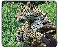 ロックエッジ付きマウスパッド、アニマルワールドワイルドヒョウ滑り止めラバーベースマウスパッド