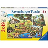 Ravensburger Forest Zoo & Pets Puzzle 3x49pc,Children's Puzzles