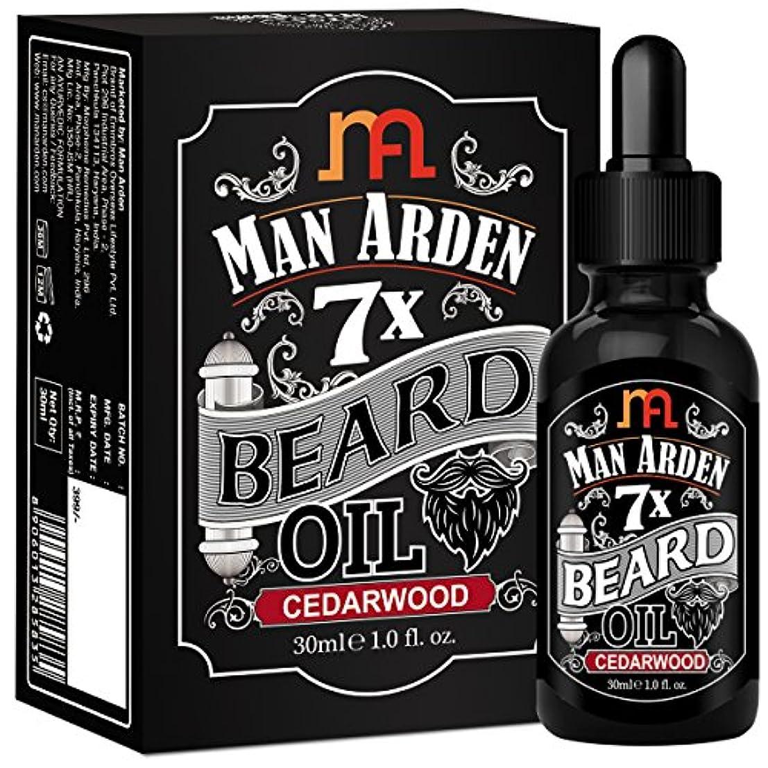 祖母王室拘束するMan Arden 7X Beard Oil 30ml (Cedarwood) - 7 Premium Oils Blend For Beard Growth & Nourishment