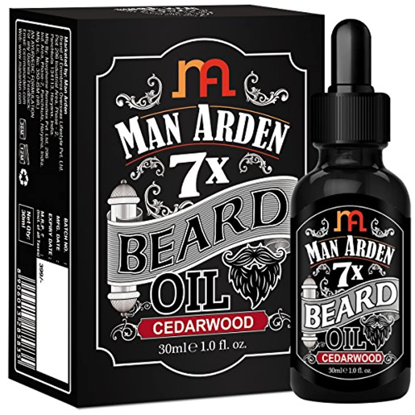 カーテン生産的懲戒Man Arden 7X Beard Oil 30ml (Cedarwood) - 7 Premium Oils Blend For Beard Growth & Nourishment