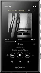 ソニー SONY ウォークマン 64GB Aシリーズ NW-A107 : ハイレゾ対応 / bluetooth / android搭載 / microSD対応 タッチパネル搭載 最大26時間連続再生 ブラック NW-A107 B