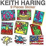 キースヘリング ステッカー9枚セット Keith Haring 防水 シール