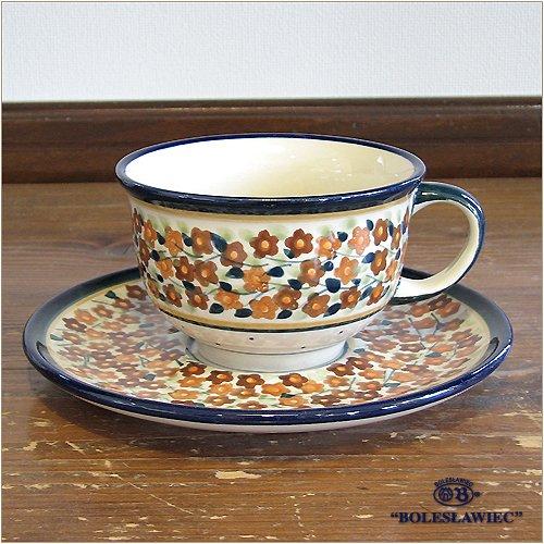 [Zaklady Ceramiczne Boleslawiec/ザクワディ ボレスワヴィエツ陶器] カップ&ソーサー-du52 ポーリッシュポタリー