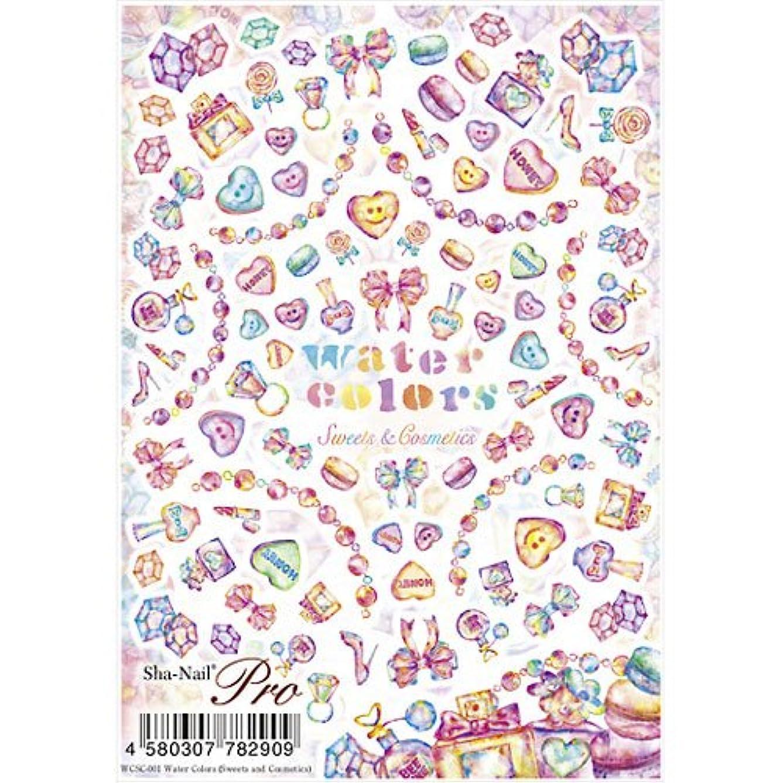 農業コントラスト舌な写ネイルプロ ネイルシール 水彩 Sweets and Cosmetics アート材