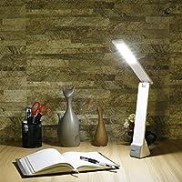 iCoco eye-care折りたたみ式調光機能付きLEDデスクランプテーブルランプwith USBケーブル、タッチコントロール、照明明るさ3モード、3レベル減光 1