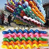 50個の巨大なヘリウムラテックスゴム風船の螺旋の結婚式の誕生パーティーのためのギフト