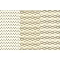 Deco Art Decoupage Paper (3 Pack), 12 by 16, Gold Basics by DecoArt