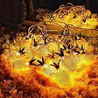 庭のテラスの花の木の芝生の景色のクリスマスの装飾、10LEDのための屋外のパイナップルLEDの太陽ひもライト