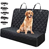 Fityou Dog Car Seat Covers, Waterproof Pet Cover for Backseat Hammock 600D Oxford Fabric Scratchproof & Non-Slip Bench Seat C