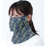 ヤケーヌ 日焼け防止専用マスク 爽クールネオン 息苦しくない フェイスカバー UVカットマスク MARUFUKU