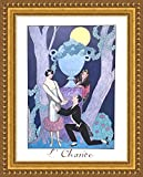 (v17 – 07 – 08 ) Georges Barbier lolsarice_フレーム_キャンバス_ Giclee_プリント_ w22 _ X h29 +[Large] #01-Gold V17-08A-MD101-04