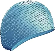 Yufang Silicone Swim Cap, Long Hair Swimming Caps for Men and Women, Large Waterproof Bathing Cap for Adult Keep Dry