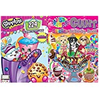 Lisa Frank Giantステッカーアクティビティブックwith over 500ステッカーとShopkins 224pgカラーリングandアクティビティブックwith over 30ステッカーby BT