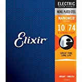 Elixir エリクサー エレキギター弦 NANOWEB 8弦 Light .010-.074#12062 【国内正規品】