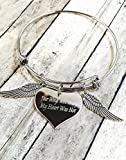 Your Wings Were Ready My Heart Was Not Charm Bracelet Memorial Gift Loss of Loved One Wings with Heart Grief Jewelry [並行輸入品]