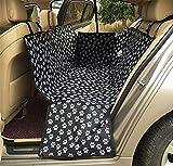 7色 ペット用 ドライブ 防水シート 後部座席用 カーシート ボックスタイプ 犬セーフ 安全トラベルハンモックカバー マット 毛布 お子様やペットが汚してもこれで安心 (ブラック)