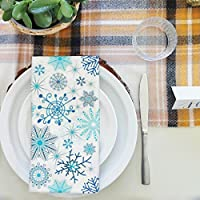 artzfolioクリスマス雪片テーブルナプキンサテン生地 20inch x 20inch; SET OF 4 PCS AZKIT11545945NAP_TB_L_02-S4_SK