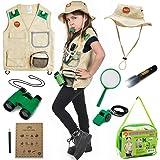 Born Toys Explorer Kit for Kids with Washable Premium Backyard Safari Vest and Adventure kit