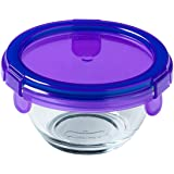 My First Pyrex+ 200ml Round Dish, with Purple BPA Free Plastic lid