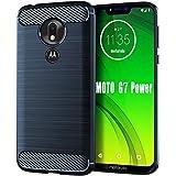 HNHYGETE Moto G7 Power Case,Moto G7 Supra Case, Soft Slim Shockproof Anti-Fingerprint Full Protective Phone Cases for Motorol