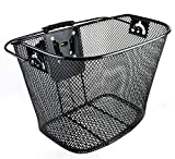 Bicycle Bike Front Basket Wicker with Quick Release by Venzo