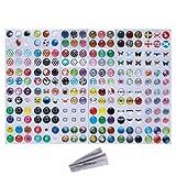 Wisdompro スマホ ホームボタン シール パワーボタン 216枚 iPhone 3GS 4 4s 5 5c 5s 6 6 Plus iPod Touch 4/5 iPad 2/3/4 / Mini / Mini 2/3 / Air / Air 2 適用 パターン2