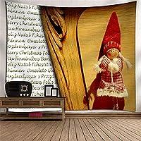 クリスマスツリー掛け布団タペストリー壁掛けデジタル印刷ポリエステルTVの背景壁の家庭の寝室のリビングルームタペストリーテーブルクロスピクニックブランケット壁掛けアート壁の装飾 (Color : 023)