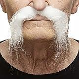 [マスタック]Mustaches Realistic Fu Manchu white moustache [並行輸入品]