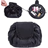 Lazy Cosmetic Bag, ONEGenug Makeup bag, Drawstring Design One-Step Organizer, Cosmetic Pouch for Lazy Ladies