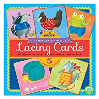 eeBoo Friendly Animals Lacing Cards [並行輸入品]