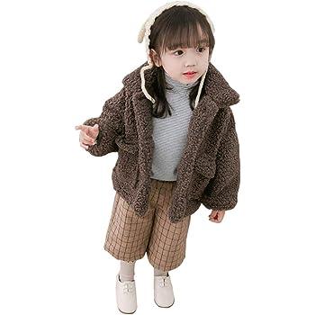 e6e1f56d2d6ec キッズ アウター コート ジャケット もこもこ 子供服 女の子 男の子 冬服 裏起毛 可愛い 防寒 暖かい